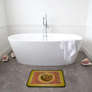 Multi Pattern Peacock Bath Mat